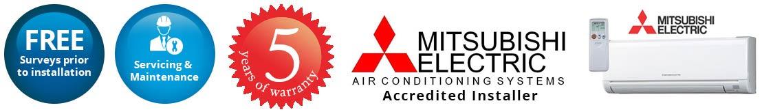 mitsubishi air conditioning Reading